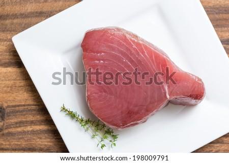Fillet tuna raw - stock photo