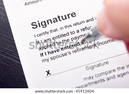 Filling and signature the Tax Form