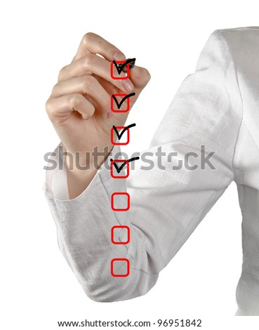 Filling Check list - stock photo