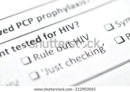 Filling Medical Form , HIV Status