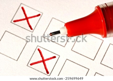 Filling Out Form/ Time To Answer Some Questions - stock photo