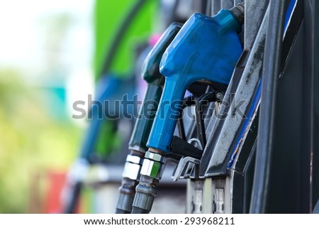 filling station, which provides refueling the car. - stock photo