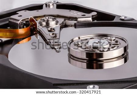 filling the hard drive - stock photo