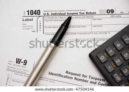 Filling Tax Form 1040 Year 2009 Stock Photo 47504146 Shutterstock