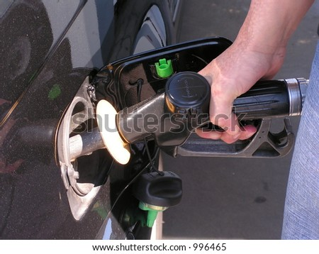 Filling up the car - stock photo