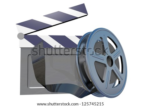 FILM AND CLAP BOARD CINEMA - 3D