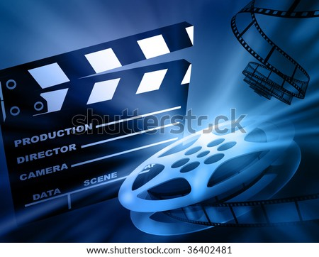 Film background. - stock photo