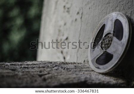 Film canister - stock photo