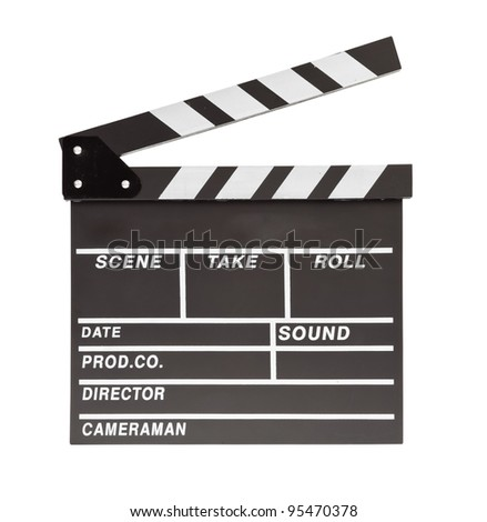 film clapper  board with space - stock photo