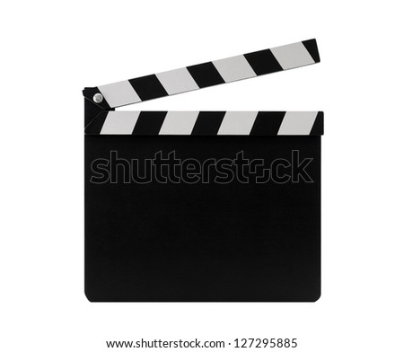 Film clapperboard with clipping path - stock photo