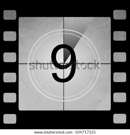 Film countdown 9 - stock photo