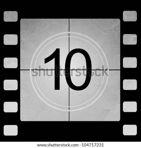 Film countdown 10 - stock photo
