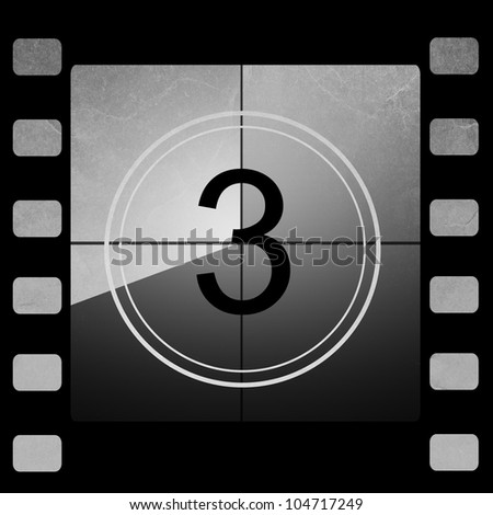 Film countdown 3 - stock photo