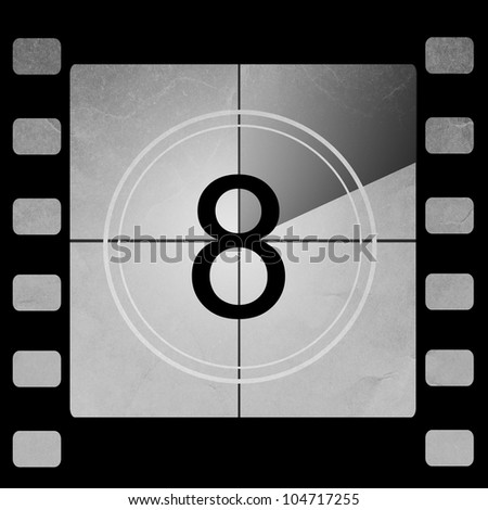 Film countdown 8 - stock photo