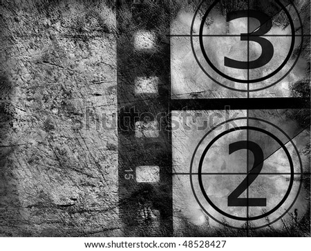 Film countdown - stock photo