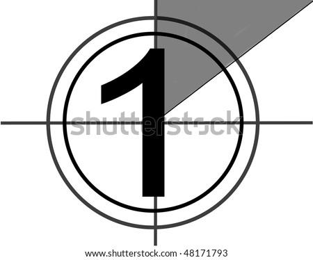 Film countdown at No 1 - stock photo