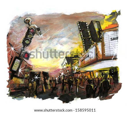 film festival event illustration - stock photo