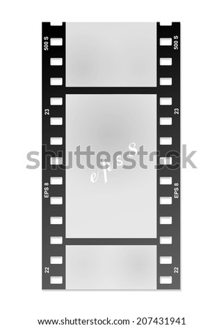 film for the photo on a white background