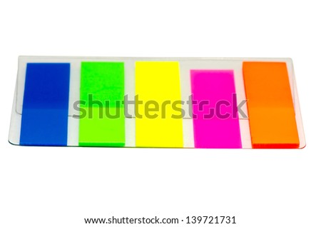film index five color isolated on white background 2 - stock photo