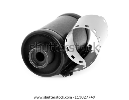 film is isolated on a white background - stock photo