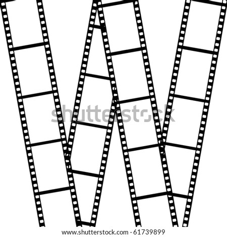 Film  isolated on white background - stock photo