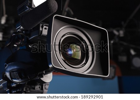 Film lens - stock photo