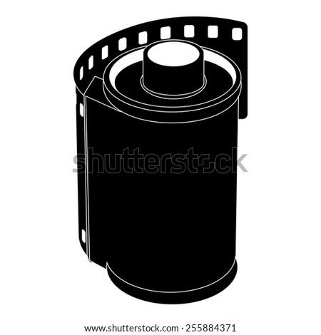 film movie over white background. illustration - stock photo