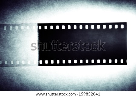 Film negative frame. Filmstrip background - stock photo