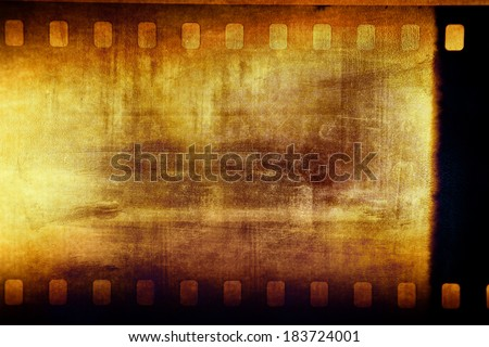 Film negative frame filmstrip background - stock photo