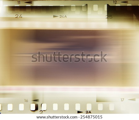 Film negative frames, advertising copy space - stock photo