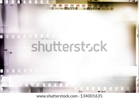 Film negative frames, film strips - stock photo