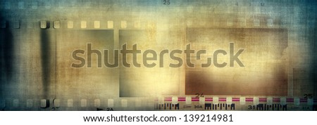 Film negative frames, film strips background - stock photo
