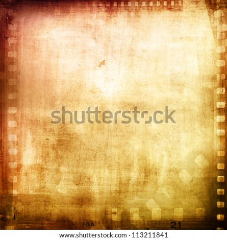 Film negatives frame, advertising copy space - stock photo