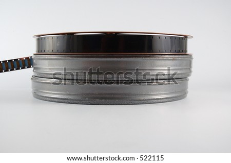 Film reel and canisters - stock photo