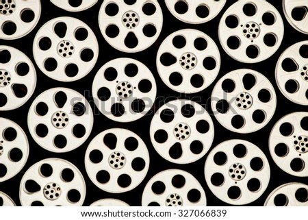 Film reel background - stock photo
