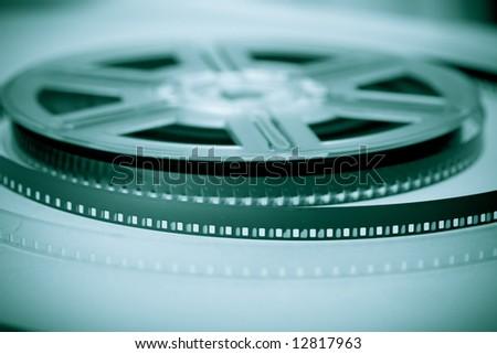 Film reel - concept background. Movie industry symbol. - stock photo