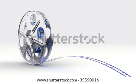 Film reel, footage  available also - stock photo