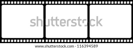 Film reel illustration isolated - stock photo