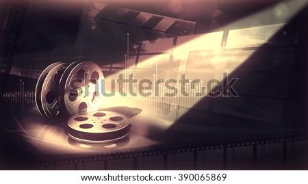 film reels - stock photo