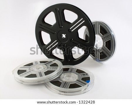 Film reels isolated