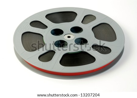 Film reels isolated on white