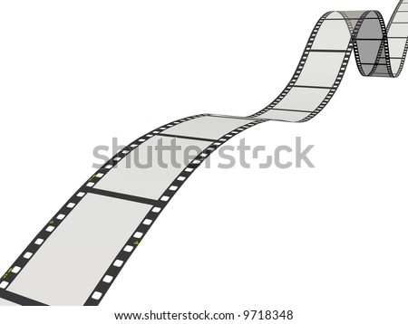 Film ribbon isolated on white