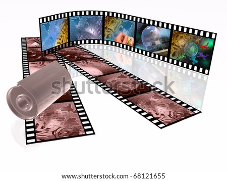 Film rolls and cassette with pictures (communication).