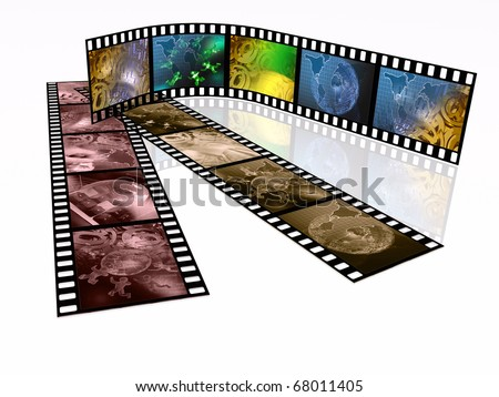 Film rolls with color pictures (communication).