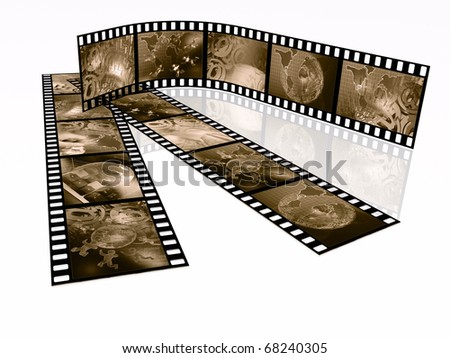 Film rolls with pictures (communication).