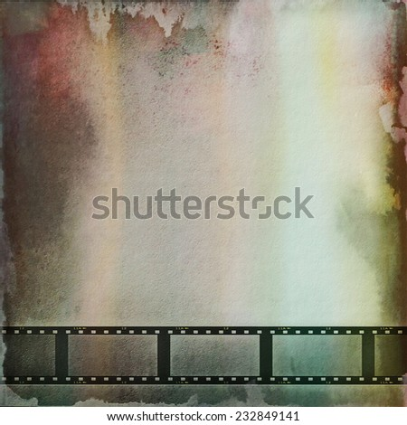 film strip background and texture - stock photo