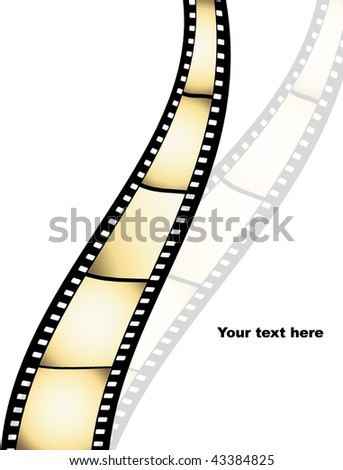 Film strip background with place for text - more available