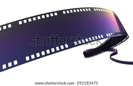 film strip (clipping path and isolated on white) - stock photo