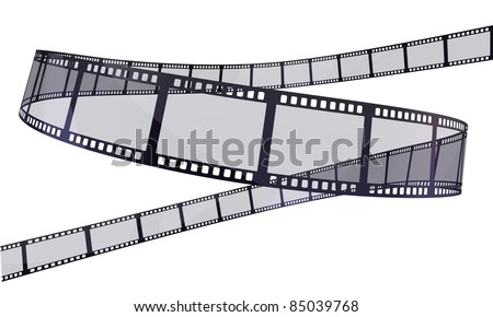 film strip (clipping path and isolated on white)