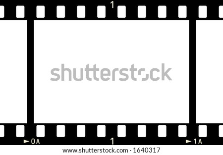 Film Strip 1 Frame Numbers No Stock Illustration 1640317 - Shutterstock